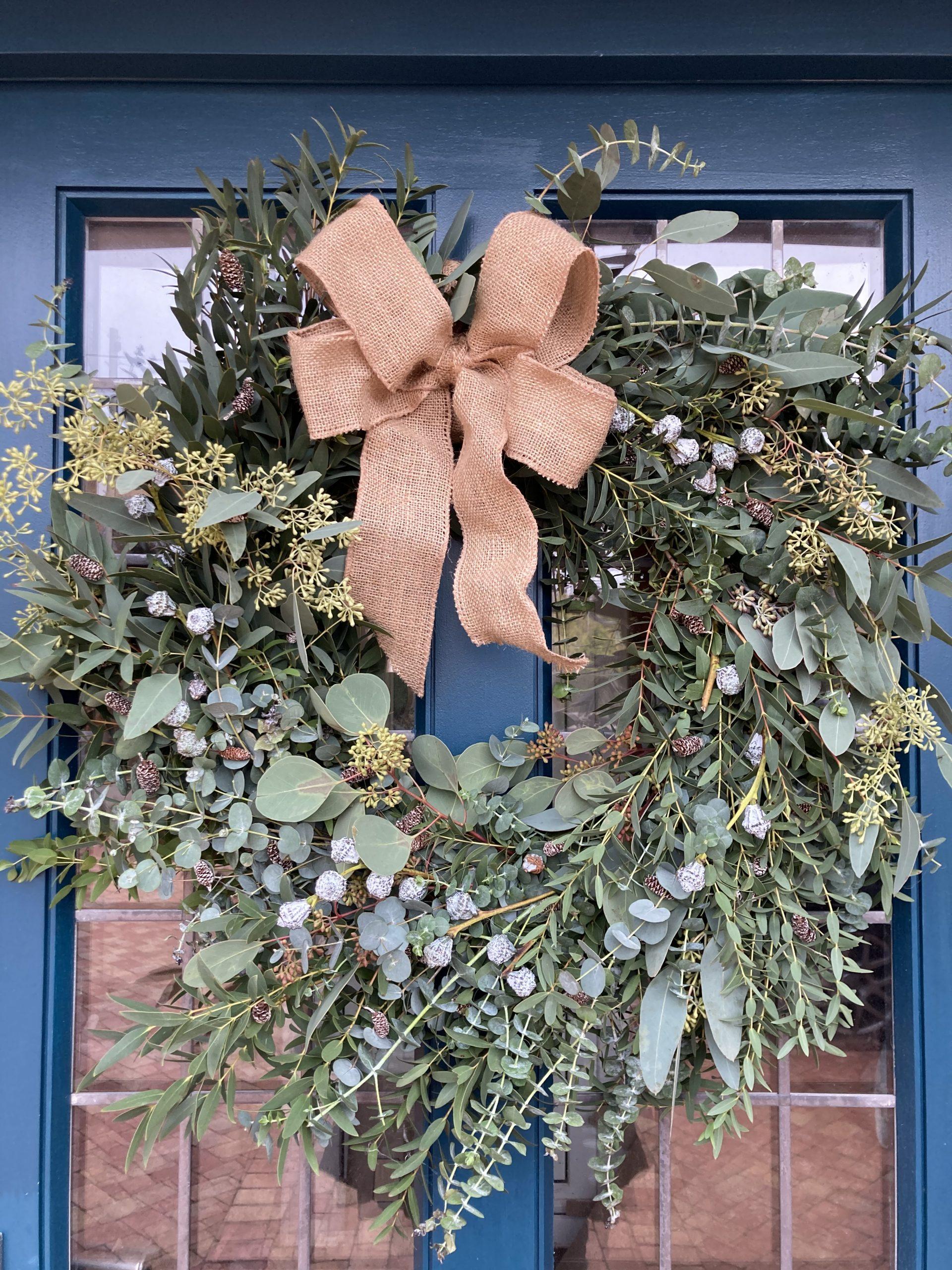 Eucalyptus Christmas Wreath Cafe Des Fleurs Florist Bouquets Rye